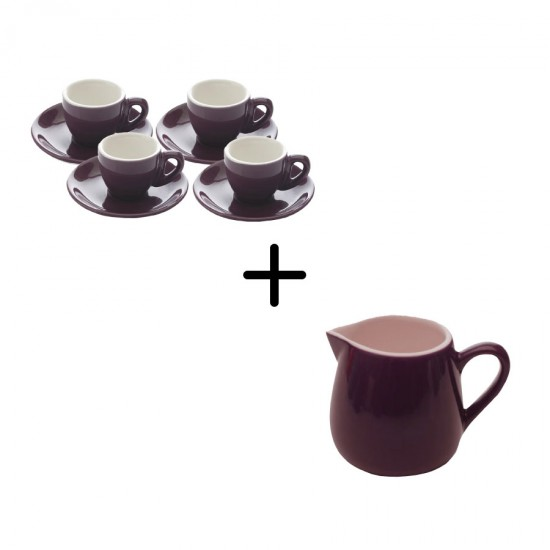 Culture Purple Espresso Set + Creamer 9 pcs