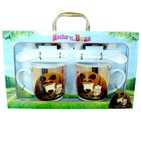 Masha and the Bear Cups Set 6pcs