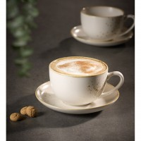 Vivo Stoneware White - Coffee Cup & Saucer 2pcs