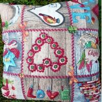 Декоративна калъфка Christmas Hearts 43 x 43 cm