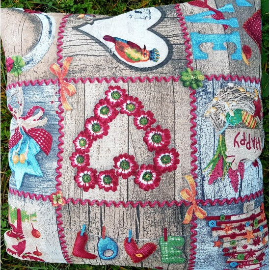 Decorative pillow Hearts 43x43 cm