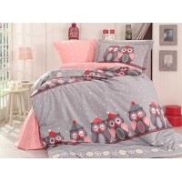 Linda Grey - Poplin Single Bed Linen Set