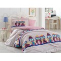 Linda Lilac - Poplin Single Bed Linen Set