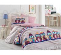 Linda Lilac - Poplin Single Bed Linen Set