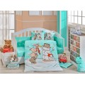 Snowball Mint Baby Bed Linen Set