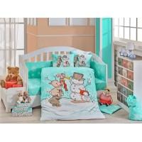 Snowball Mint Baby Bed Linen Set