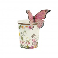Truly Fairy Paper Cups with Butterfly Detail , 12 pc