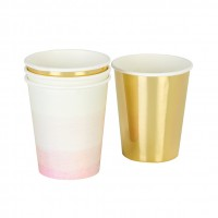 We ♥ Pink Paper Cups, 12 pc