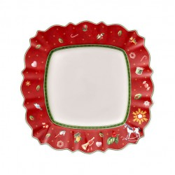 Toy s Delight square dinner plate, red/multicoloured