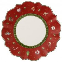 Toy's Delight Bread & Butter red plate