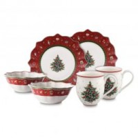 Toy s Delight Breakfast for 2 red, set 6pcs 36x25x14cm