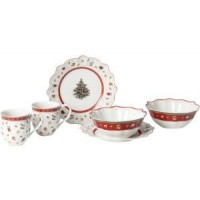 Toy's Delight Breakfast for 2 white, set 6pcs 36x25x14cm