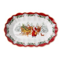 Fantasy Bowl oval large - Santa with sledge