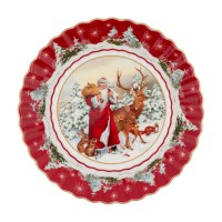 Toy's Fantasy large bowl Santa with forest animals