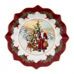 Toy s Fantasy large bowl Santa and tree