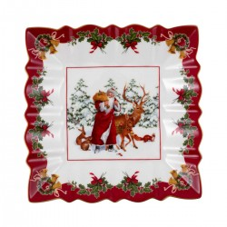 Toy's Fantasy Bowl square - Santa with forest animals