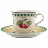 French Garden Fleurence coffee cup and saucer