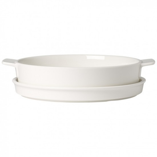 Round Clever Cooking Baking Dish with Lid 24 cm
