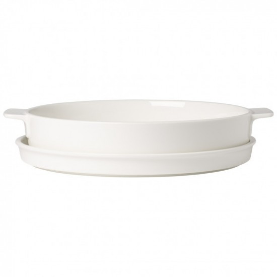 Round Clever Cooking Baking Dish with Lid 28 cm