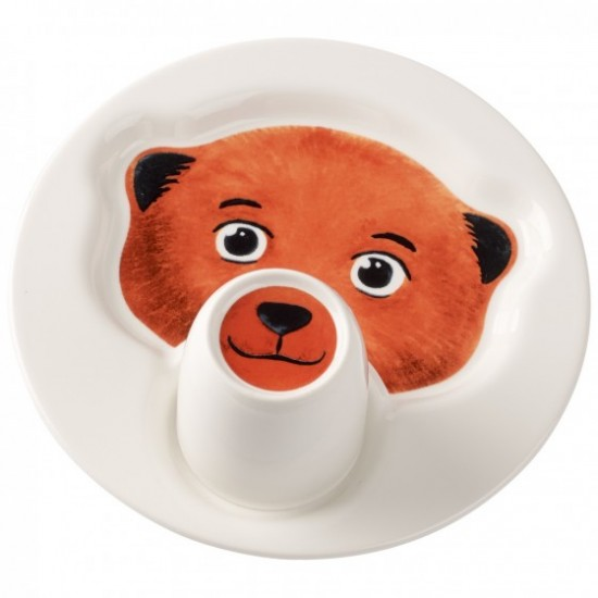 Animal Friends Plate with Cup, Bear