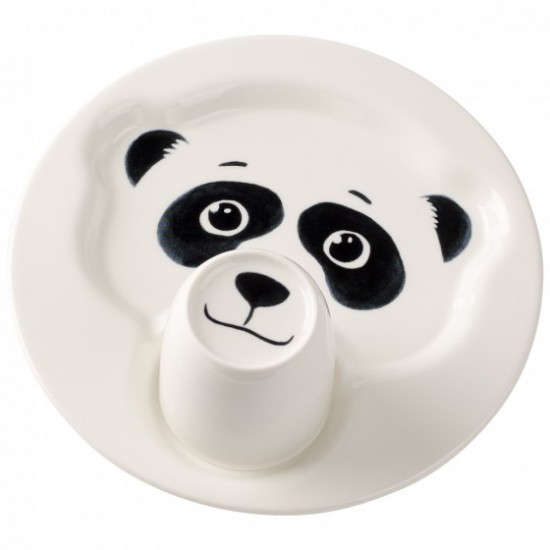 Animal Friends Plate with Cup, Panda