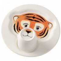 Animal Friends Plate with Cup, Tiger