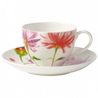 Anmut Flowers Coffee Cup with Saucer