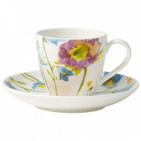 Anmut Flowers Mokka/Espresso Cup with Saucer