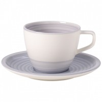 Artesano Nature Bleu Coffee Cup with Saucer