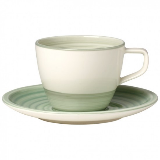 Artesano Nature Vert Coffee Cup with Saucer