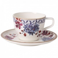 Artesano Provençal Lavendel Coffee Cup with Saucer