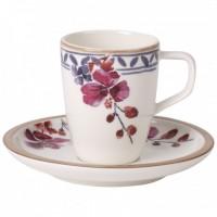 Artesano Provençal Lavendel Mokka/Espresso Cup with Saucer
