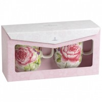 Rose Cottage Mug Set 2pcs