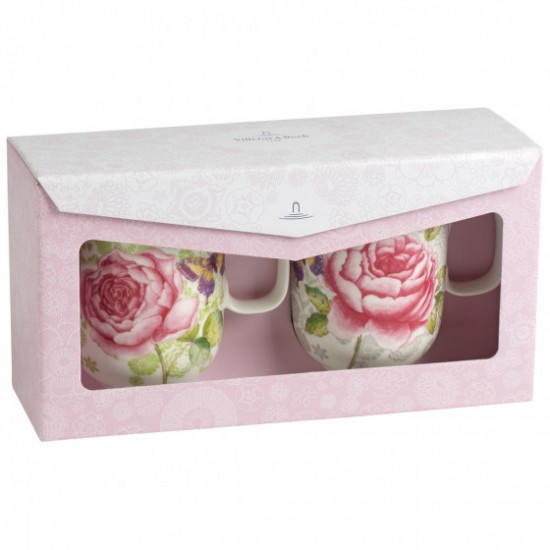 Rose Cottage Mug Set 2pcs