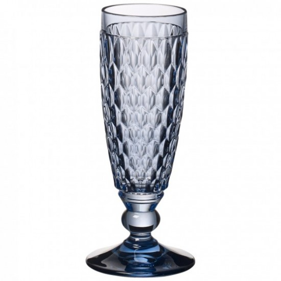Boston Coloured Champagne Flutes Set Blue 6 pcs
