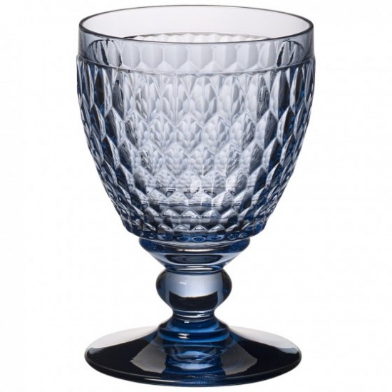Boston Coloured  Water Goblets Blue Set