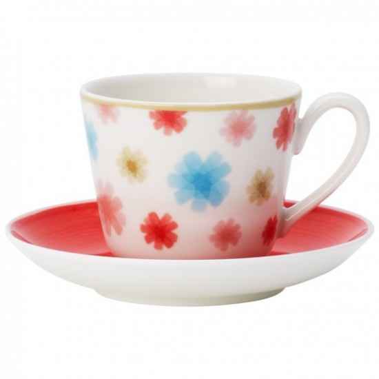 Lina Cherry Espresso/Mokka Cup and Saucer Set 2pcs