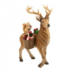 Winter Collage Accessories Deer with forest animals