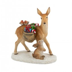 Winter collage accessories deer with gifts