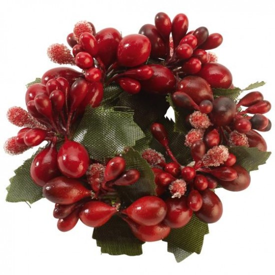 Winter Collage Accessoires Napkin ring red berries 6cm