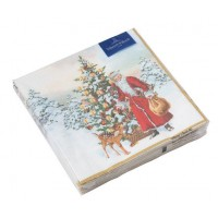 Winter Specials Napkin Lunch 'Santa Claus with Christmas Tree' 20 pieces