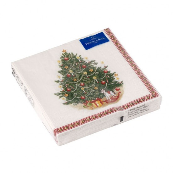 Winter Specials lunch napkin Christmas tree, green/multicoloured, 20 pieces