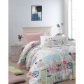Children's Quilt Cover Set Summer Salmon
