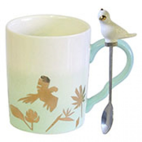 Parrot Cup With Ceramic Spoon