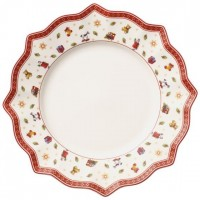 Toy s Delight white dinner plate