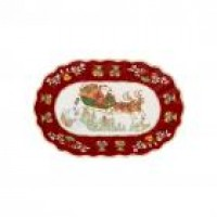 Toy's Fantasy large oval bowl, red/multicoloured, 29 x 19 x 5 cm