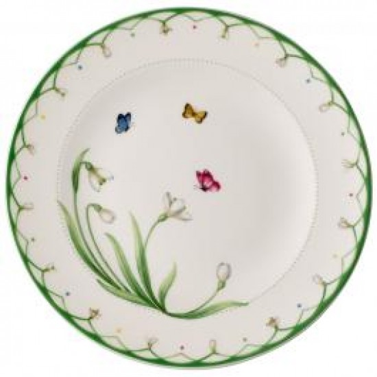 Colourful Spring  Breakfast Plate  220 mm